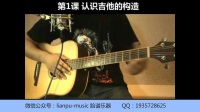 脸谱民谣吉他教学入门教程01认识吉他的构造