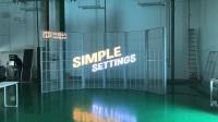 弧形LED透明屏|异形LED透明屏|P10透明LED显示屏产品老化视频