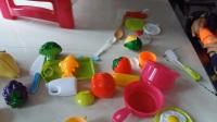 亲子益智玩具261 儿童玩具男孩女孩做饭煮饭厨具餐具厨房玩具 宝宝早教认知 蔬菜水果切切乐 亲子游戏 开箱神秘大奖 拼装厨房厨具 过家家玩具总动员