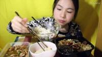 91爱吃饭的妹子  猪蹄+黄焖鸡米饭+红烧肉荷包蛋饭+鱼饼+羊栖菜拌饭 中国吃播~