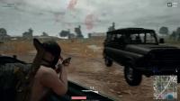 绝地求生大逃杀:双排雷雨天3杀抢车开