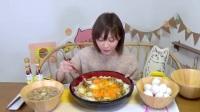 日本木下大胃王吃播大挑战(生蛋配大锅饭)直播间2017.3.29