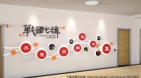 学校文化墙效果图3D模版模型片头视频素材背景图片高中学教室历史文化长廊走廊文墙