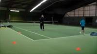 网球技术训练-反手三个位置步法和阻力训练