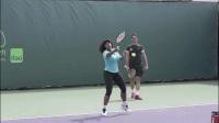 网球技术训练-小威正反手底线凌空球训练