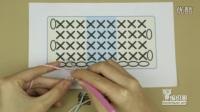 6-2竖条短针织片的换线方法