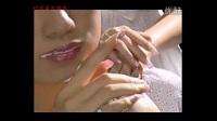 妩媚美甲画花 创意爱心美甲 美甲视频教程 3D彩绘雕花甲 光疗甲
