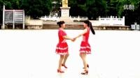 双人对跳广场舞《朋友的心》教学演示_高清_高清