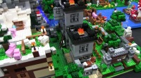 积木砖家乐高LEGO Minecraft World with Light-Up LAVA&WATERFALL!