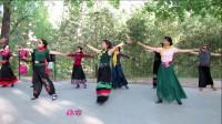 紫竹院广场舞——北京的金山上(带歌词字幕)