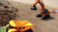 儿童男孩玩具汽车挖土机推土机铲车 挖土机动画片 挖掘机工作视频 钩机工作视频