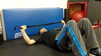 Supine Resisted Right Triceps Extension with Right HGIR