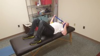 Supine Resisted Abducted Diagonal Extension with HG ER