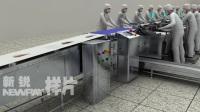 鱼片机生产线、流水线演示动画——新锐传媒