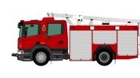 TransPNG 2 - 香港消防处 Scania泵车 绘图现已发布