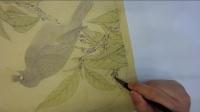 李晓明工笔八哥枇杷图-001