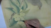 李晓明工笔八哥枇杷图-002
