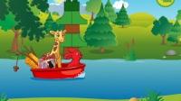 有趣的动物宠物护理——乐高积木动物——可爱的公路旅行故事和建筑游戏
