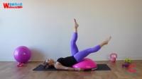 【去健身】美女教你玩BOSU 波速球 平衡半球 健身训练教程