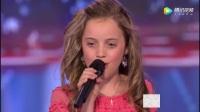 美国达人秀,金发萝莉歌声通透,似艾薇儿直奔冠军!
