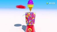 早教: 3D饼干与足球棒棒糖等等 趣味学习颜色和形状