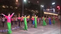雪冰青春活力广场原创舞《迟懂的父爱》集体;正面;演示;附加口令分解动作,演示;集体。