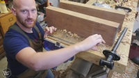 Hand Tool Woodworking WorkBench - Wood By Wright Roubo English Hybrid Work Bench
