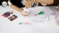 自制甜甜圈 DIY食玩-绒绒兔玩具