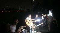 170710MON 吉他弹唱 SANTOS 东帝汶友人 南理工 留学生 环洲湖畔木道 月季园旁 玄武湖 南京
