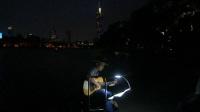 170710MON 吉他指弹练习 TONY大叔 环洲湖畔木道 月季园旁 玄武湖 南京 (2)