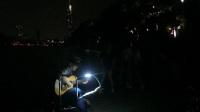 170710MON 吉他指弹练习 TONY大叔 环洲湖畔木道 月季园旁 玄武湖 南京 (3)