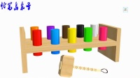 足球的颜色球棒糖的手指家庭歌曲儿童学习颜色与动物的孩子