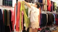 阿邦服装批发-夏款时尚棉麻两件套大版衫30套起批--670期