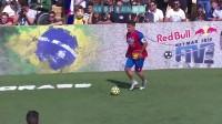 巴萨球星内马尔代表巴西 参加世界五人足球世界杯 决赛