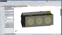 03SolidWorks发动机引擎块零件建模