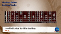 Love Me Like You Do - Ellie Goulding Guitar Backing Track with scale chart
