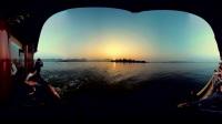 泛舟西湖看落日