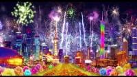 CP0025-2015羊年晚会喜庆背景中国美舞台演出led视频素材灯笼富贵牡丹