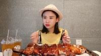大胃王密子君·92年的烤乳猪·西周的炮豚·满汉全席的主打之一·美食吃货吃播
