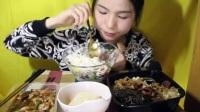 91爱吃饭的妹子 猪蹄+黄焖鸡米饭+红烧肉荷包蛋饭+鱼饼+羊栖菜拌饭 中国吃播~_其他_生活