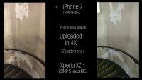 索尼XZ防抖对比iPhone 7