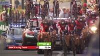 2017环西班牙自行车大赛第1赛段最后冲刺阶段