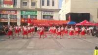 红舞队表演腰鼓