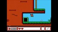 小毓实况解说fc怀旧游戏《冒险岛4》第一大关 邪恶的石头