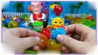 白雪公主与熊出没光头强一起拆小个的玩具蛋,海尔兄弟 樱桃小丸子