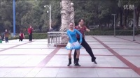 双人对跳跑跑舞《让爱回到梦的故乡》正反面附口令分解教学