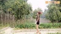 朱丽广场舞《好心情蓝蓝广场舞原创31【32步放歌走天涯附分解》(1)