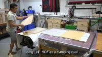 Sewing Table and Stool Part 2- Curly Cherry Veneer Table Top