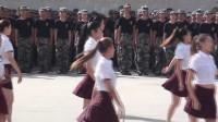 河北外国语学院2017年新生军训汇报之舞蹈表演