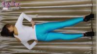秀舞时代 天蓝色健美裤 身材展示 手机版 背面